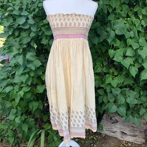 Earthbound Paisley Hippie Boho Convertible Dress